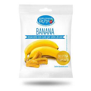 Semplicemente Frutta, Banana essiccata (confezione 100 grammi)