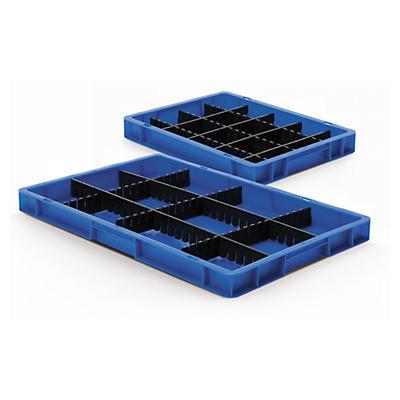 Séparateur anthracite pour bac grabable norme europe##Teiler anthrazit für Euronorm-Stapelbehälter