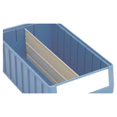 Séparateur longitudinal pour les bacs tiroirs à compartiments##Trennplatten Längsteiler für Regalkästen ohne Sichtöffnung