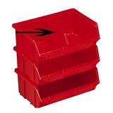 Séparation pour bac à bec Primo 10 L coloris rouge##Tussenschot voor bakje met schuine wand Primo 10 L kleur rood