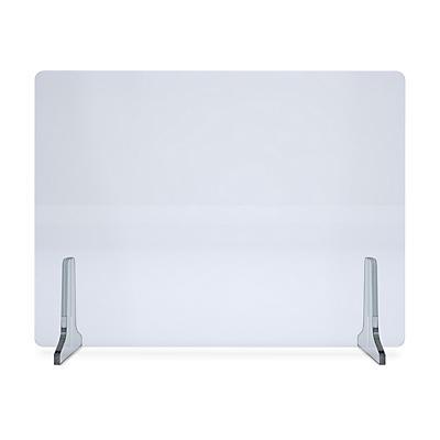 Separatore protettivo para-fiato in plexiglass per scrivania