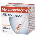 Sérum physiologique Mercurochrome, 2 boîtes de 30 unidoses de 5 ml