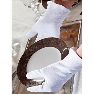 Serveerhandschoenen Heren, set van 3 paar kleur wit