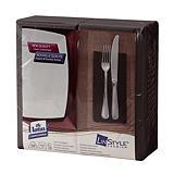 Serviettes de table non tissé Dinner Linstyle® Tork, pliage 1/8, coloris noir, le colis de 50