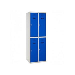 SETROC TAQUILLAS METÁLICAS Taquilla adicional de 2 puertas, 30 cm, puerta azul