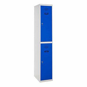 SETROC TAQUILLAS METÁLICAS Taquilla inicial de 2 puertas, 30 cm, puerta azul