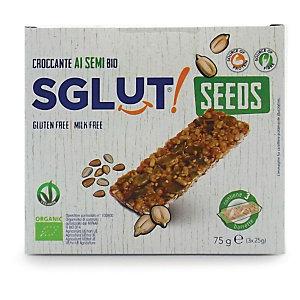 SGLUT Croccante ai semi Bio SGLUT®, Senza glutine, 25 g (confezione 3 pezzi)