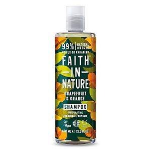 Shampoo Rinvigorente Pompelmo & Arancio Faith in Nature, Flacone 400 ml