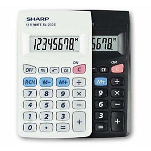 Sharp, Calcolatrici, El 233 sb - bianca, EL233SB