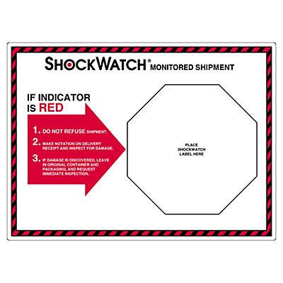 Shockwatch følgeetiketter