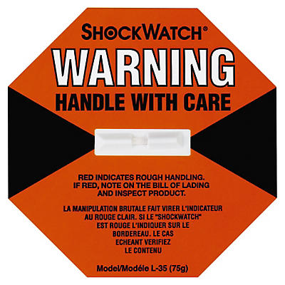 Shockwatch indicator labels