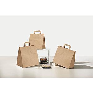 Shopper in carta riciclata, 27+17 x 29 cm, Avana (confezione 300 pezzi)