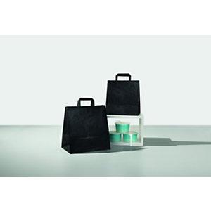 Shopper in carta riciclata, 27+17 x 29 cm, Nero