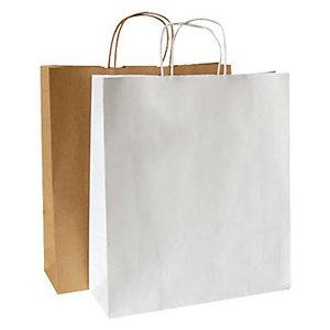 Shoppers - Colore bianco - F.to cm 24 x 10 x 31 (confezione 25 pezzi)