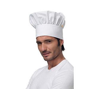SIGGI GROUP Berretto chef in tessuto Dean, Bianco