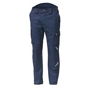 SIGGI GROUP Pantalone multitasche Task 2 in tessuto elasticizzato, Taglia M, Blu