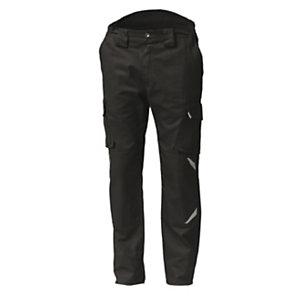 SIGGI GROUP Pantalone multitasche Task 2 in tessuto elasticizzato, Taglia L, Nero
