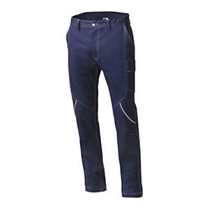 SIGGI GROUP Pantalone tecnico Boston in tessuto elasticizzato, Taglia S, Blu