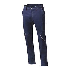 SIGGI GROUP Pantalone tecnico Boston in tessuto elasticizzato, Taglia M, Blu