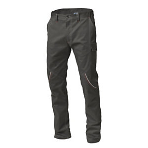 SIGGI GROUP Pantalone tecnico Boston in tessuto elasticizzato, Taglia M, Grigio