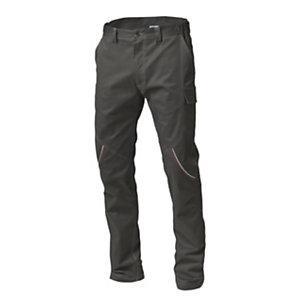 SIGGI GROUP Pantalone tecnico Boston in tessuto elasticizzato, Taglia L, Grigio
