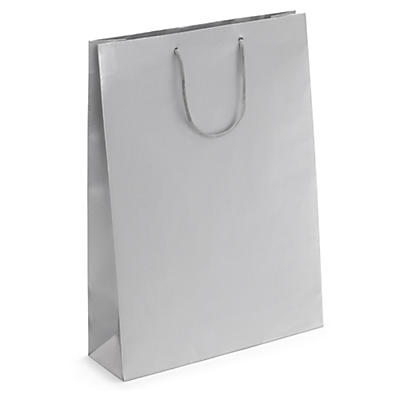 Silver matt laminated custom printed gift bags