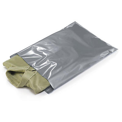Silver plastic mailing bags