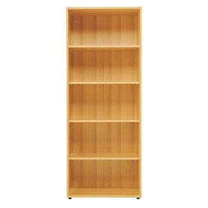 Simple Libreria Alta a giorno 4 Ripiani, dimensioni 72 x 35,5 x 182 cm, colore Noce