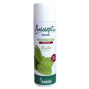 Désinfectant désodorisant Aniosept 41 Premium Anios menthe, aérosol 400 ml