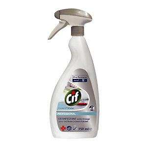 Désinfectant surfaces sans rinçage HACCP Cif, vaporisateur de 750 ml