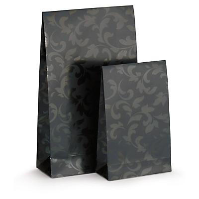 Självhäftande presentpåsar - Bestruket  papper med överlappande flik