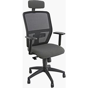 Sky Silla de oficina, malla y 100% poliéster, altura 106-118 cm, gris antracita