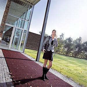 Slipvast tapijt per lopende meter, breedte 1 m kleur rood