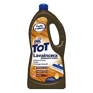 SMAC Detergente il Lavaincera per Parquet con Estratti di Olio di Lino Flacone 1 l