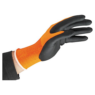 SMART TIP nitrile foam palm coated gloves