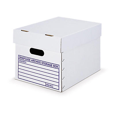 Snapcase two-piece, cardboard archive boxes