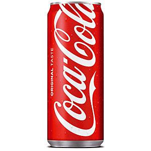 Soda Coca-Cola, en canette, lot de 24 x 33 cl