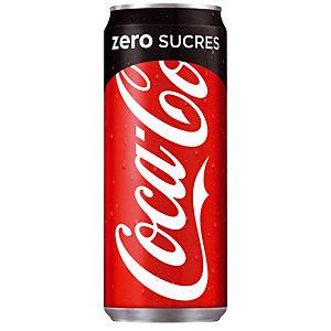 Soda Coca-Cola zéro sucres, en canette, lot de 24 x 33 cl