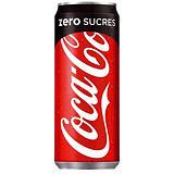 Soda Coca-Cola zéro sucres, en canette, lot de 24 x 33 cl##Coca-Cola Zero 24 x 33cl
