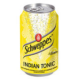 Soda Schweppes Indian Tonic, en canette, lot de 24 x 33 cl