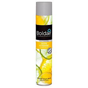Désodorisant aérosol parfum zeste citronné Boldair, 500 ml