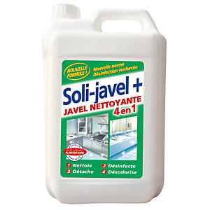 SOLIJAVEL Javel nettoyante 4 en 1 Soli-javel+ Solipro 5 L