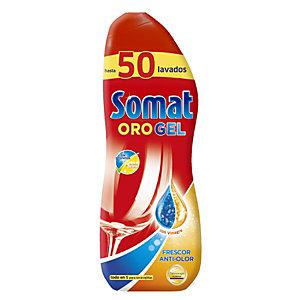 Somat ORO Gel Vinagre Detergente líquido para máquina lavavajillas, 1000 ml, 50 lavados