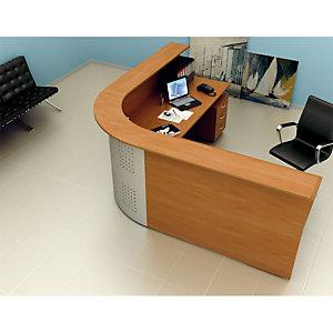 """Sopralzo per bancone reception """"Linea Pronto"""" - cm 140 x 30 x 115 h. - Noce chiaro"""