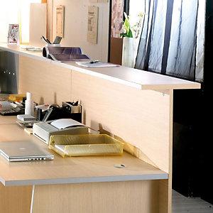 Sopralzo per banconi reception Linea Avantis - Dimensioni cm 160 x 30 x 115