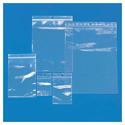 Sortido de 1000 sacos de plástico com fecho zip 50 mícrones RAJA Eco