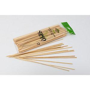 Spiedini monouso per alimenti in legno, Punta singola, 20 cm (confezione 1.000 pezzi)