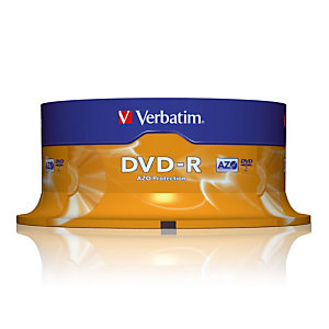 Spindel 25 DVD-R 4,7 GB Verbatim AZO 16x