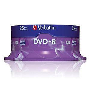 Spindel 25 DVD+R 4,7 GB Verbatim AZO 16x