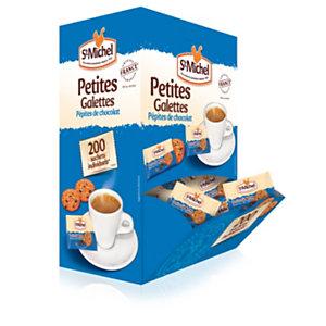 St Michel Mini galettes St Michel aux pépites de chocolat - Boîte de 200 sachets individuels